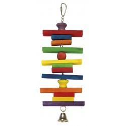 Maderas de colores y campana
