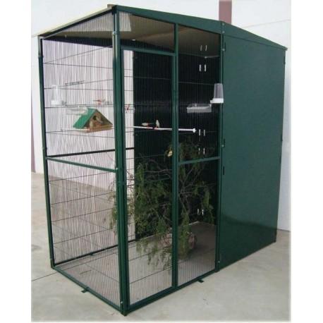 Voladero jardin 2 m2 2x1 m con 3 paneles corta vientos casa del ave - Voladeros de jardin baratos ...