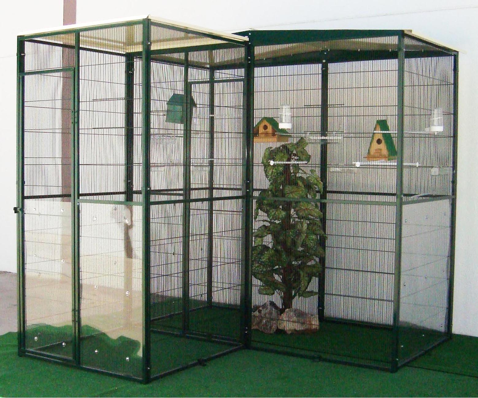 voladero jardin m con puertas y habitaculo de seguridad m casa del ave