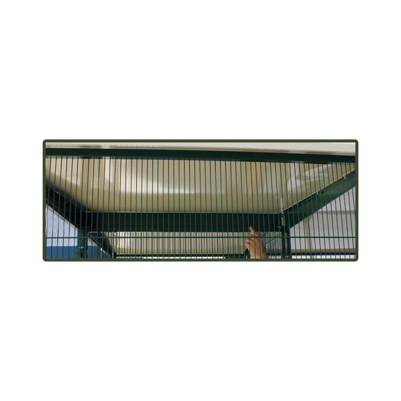Voladero jardin 4 m2 con 2 puertas y habitaculo seguridad for Jardin 1m2