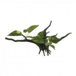 Tronco con plantas M 34cm