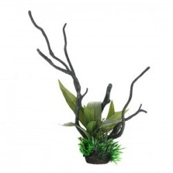 Tronco con plantas L 33'5cm